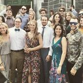 #Precovid #TB when we cleaned up and took showers for @lpthewolf & @myri_perrier wedding 💙 Rough night that was. #quebecconnection
